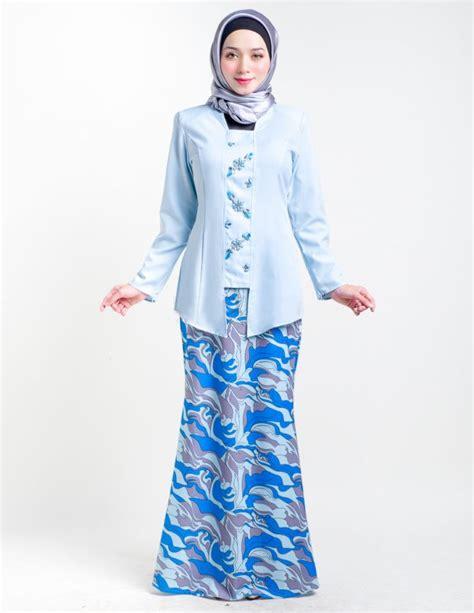 Fashion Baju Bluesky baju kurung moden savina sky blue lovelysuri