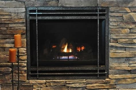 made mission style gas fireplace cover by ironhaus