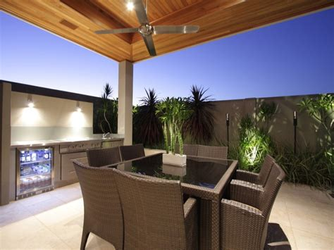 indoor outdoor outdoor living design with bbq area
