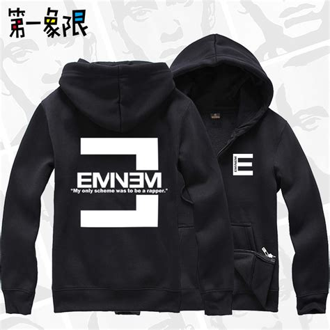 Hoodie Zipper Eminem Salsabila Cloth free shipping eminem hoodies winter hiphop rappers casual slim shady outerwear