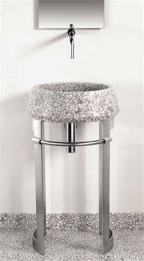 pedestal sink with metal legs modern sheet metal pedestal sink from effepimarmi leg