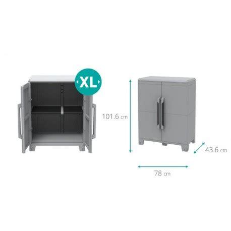 armadi da esterno brico armadio in resina basso da esterno modulare 2 ante