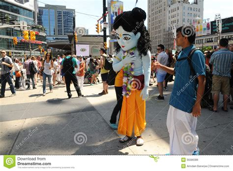 Maskot Krisna hare krishna rally editorial photo image 35586386