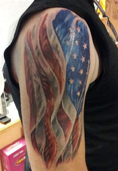 tribal american flag tattoo collection of 25 tribal american flag on arm