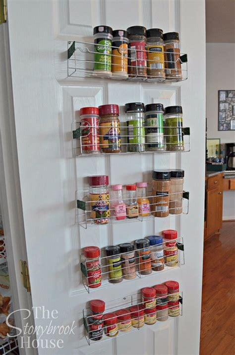 diy inside cabinet spice rack 40 cool diy ways to get your kitchen organized diy