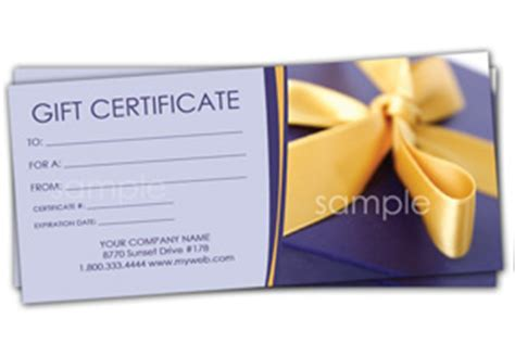 anniversary gift certificate templates easy to use gift