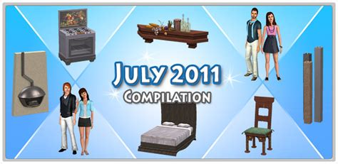 July 2011 Mart S - july 2011 compilation set store the sims 3