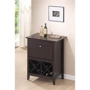 Small Bar Cabinet Furniture Modesto Brown Modern Bar And Wine Cabinet Wholesale Interiors Wine Cabinets Wine Stora