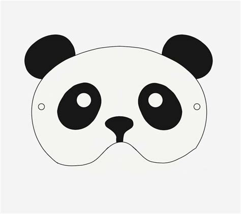 pin cushion studio free printable panda mask