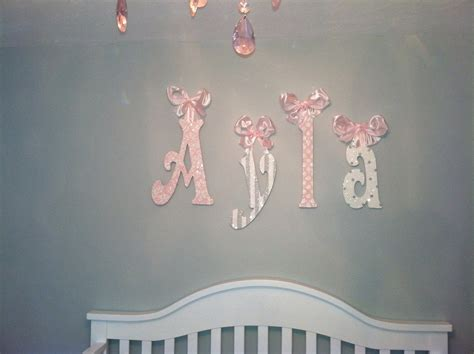 Nursery Wall Letters Childrens Room Decor Glitter And Wall Letters For Room