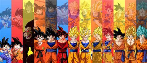 imagenes de goku todas las transformaciones estas son las 19 transformaciones de goku en dragon ball