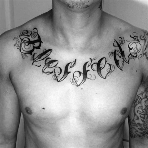 60 blessed tattoos for men biblical lettering design ideas