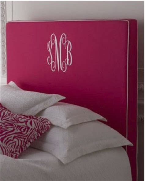 monogrammed headboards monogram cute idea for children and college dorm night