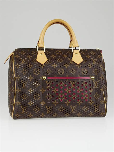 Tas Lv Seepdy Edition louis vuitton limited edition fuchsia monogram perforated speedy 30 bag yoogi s closet