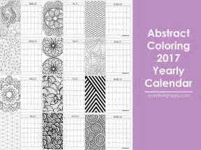 printable calendar sheets abstract adult coloring 2017 calendar free printable