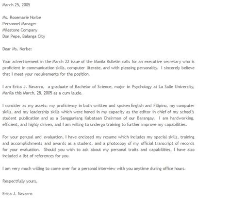 Email Cover Letter To Recruiter Sle cover letter untuk email 28 images sle email to