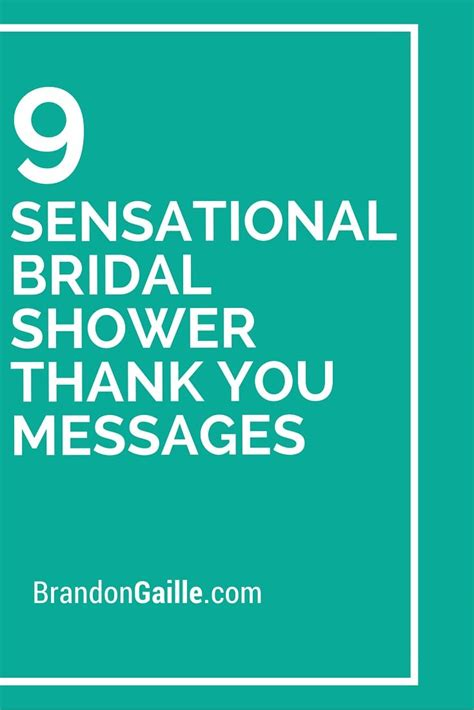 Bridal Shower Thank You Messages by 9 Sensational Bridal Shower Thank You Messages Messages