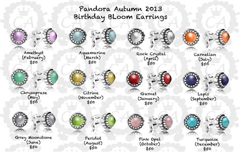 pandora birthstone earrings march earrings ideas