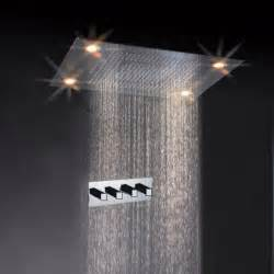 31 quot large led shower set faucet waterfall