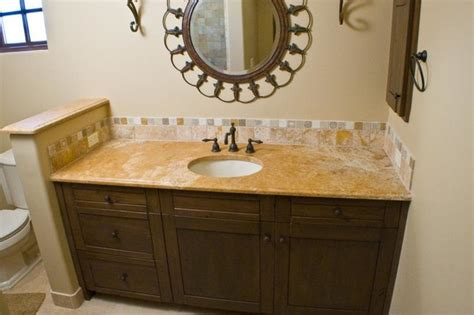 bathroom vanity backsplash authentic durango dorado vanity countertop and backsplash traditional bathroom other
