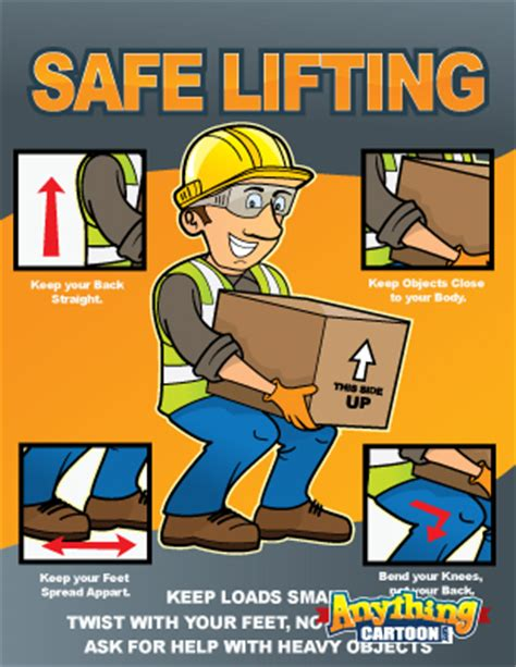 printable safe lifting poster safety cartoons free safety cartoon posters safety