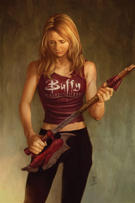 art  jo chen buffy  vampire slayer comic cover