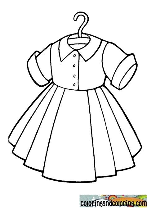 free coloring pages of clothes and dresses