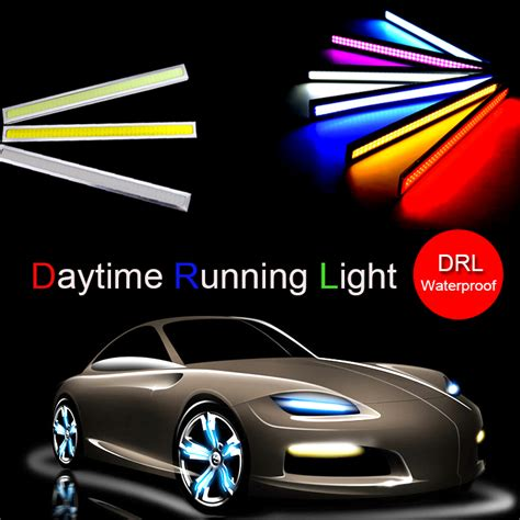 Led Drl 17cm Universal 1pcs 17cm cob led lights diy drl daytime running lights car for universal car 100 waterproof