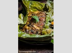Baked Whole Fish Masala in Banana Leaf - Indian Style ... Lemon Rice Recipe South Indian Style