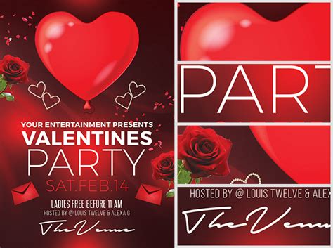 valentine s day flyer template flyerheroes