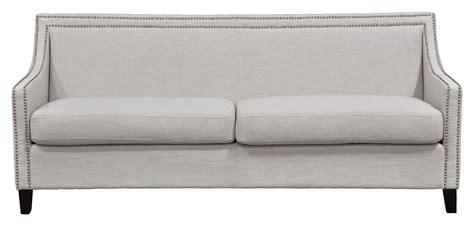 linen sofa nail trim linen sofa chairish
