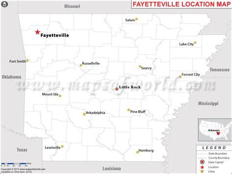 us map fayetteville arkansas where is fayetteville arkansas