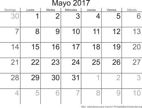 Calendario M Ayo Mayo 2017 Calendario Para Imprimir Calendarios Para Imprimir