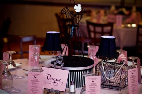 pink and black bridal shower decorations oooh la la a pink black couture bridal shower 187 the finishing touch events