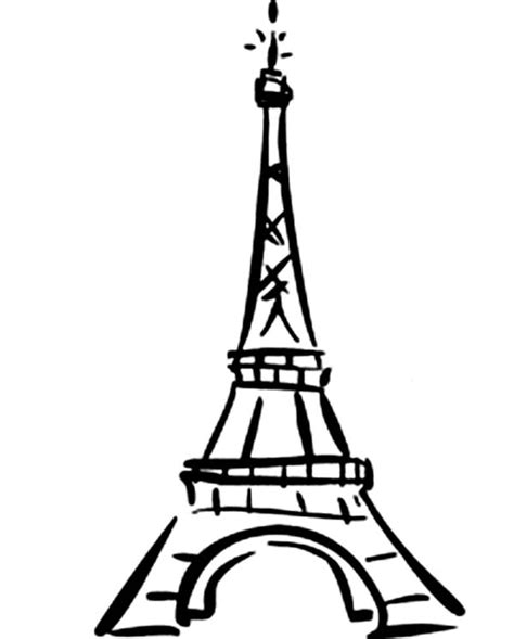 Best Photos Of Eiffel Tower Drawing Cartoon  Coloring sketch template