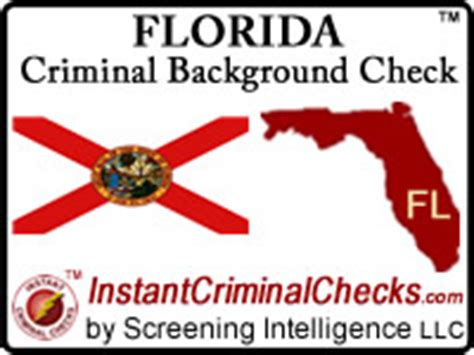 Criminal Record Check Florida Florida Criminal Background Checks For Pre Employment