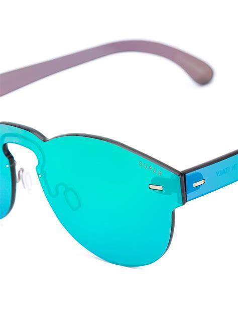 Tuttolente Green Sunglasses lyst retrosuperfuture tuttolente sunglasses in
