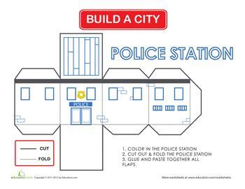 pattern making department worksheets build a city police station homeschool fun