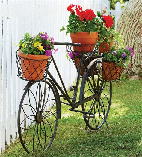 Garden Bicycle Planter by Bikes In The Garden Upcycle Them