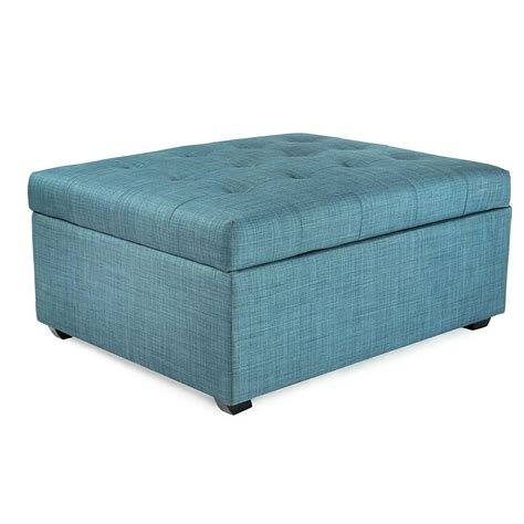 fold out ottoman bed reviews amazon com ibed convertible ottoman guest bed in blue