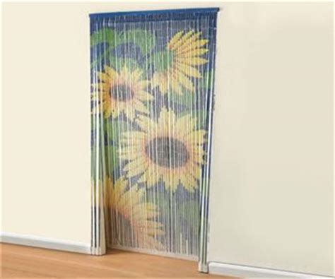 bamboo sunflower door beaded curtain insects fly screen