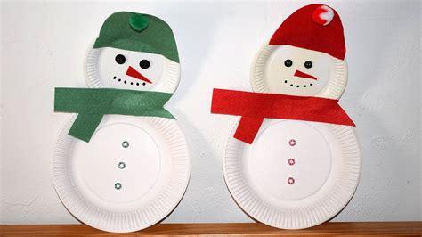 Basteln Mit Papptellern Weihnachten by Schneemann Aus Papptellern Basteln