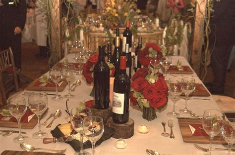 wine themed table decorations napa valley vineyard theme wedding table decorations for