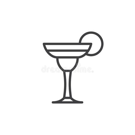 margarita outline cocktail margarita line icon outline vector sign stock