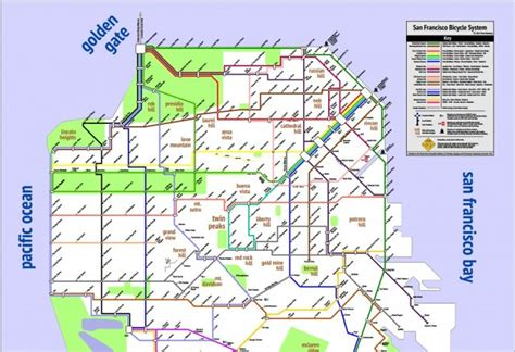 san francisco easy map a simplified user friendly bike map for s f riders