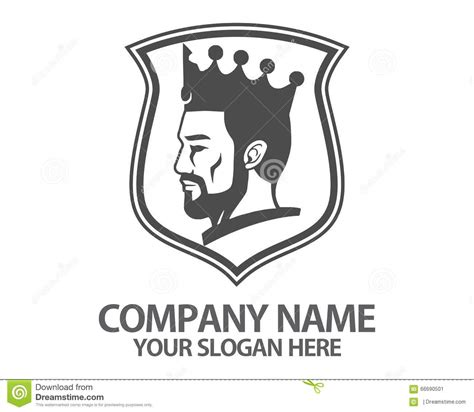 King Head Crown Logo Stock Vector   Image: 66690501