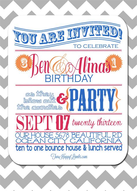 Bday Invites by Birthday Invite For Birthday Invite