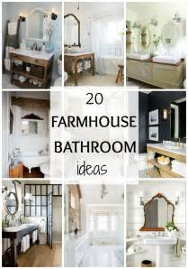 20 best farmhouse bathrooms to get that fixer style