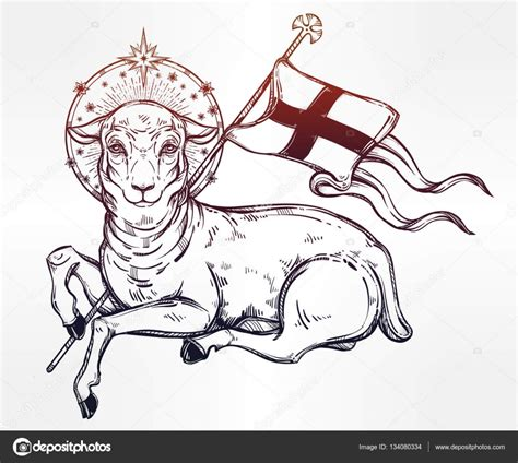 lamb of god christian symbol stock vector 169 katja87