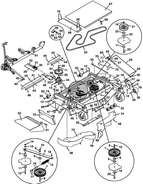 grasshopper diagram parts grasshopper parts diagram 9861 deck mower assembly 2001